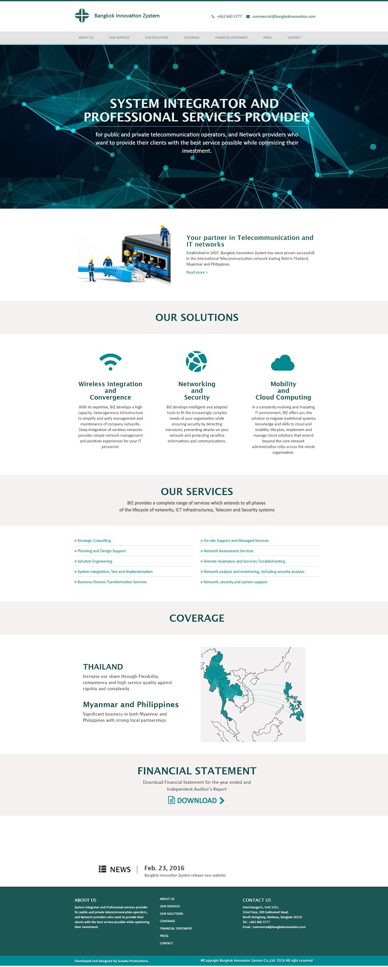 BIZ Desktop webdesign by Suzaku