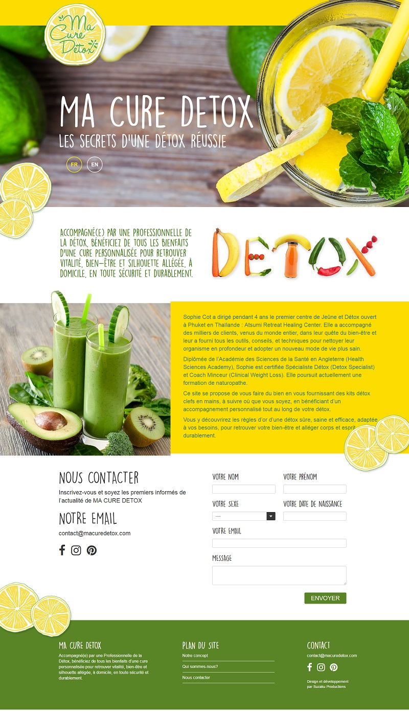 Macure Detox Desktop webdesign by Suzaku