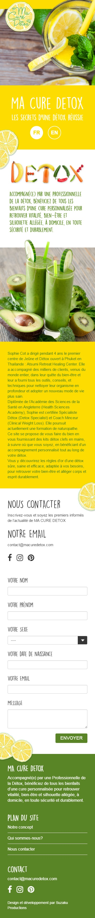 Macure Detox mobile view webdesign by Suzaku