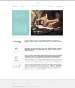 Website design for AKINASIA by Suzaku Productions