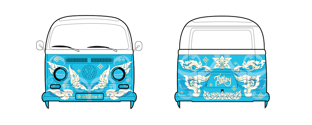 Foodtruck graphic design for Playgrounds by Suzaku Productions