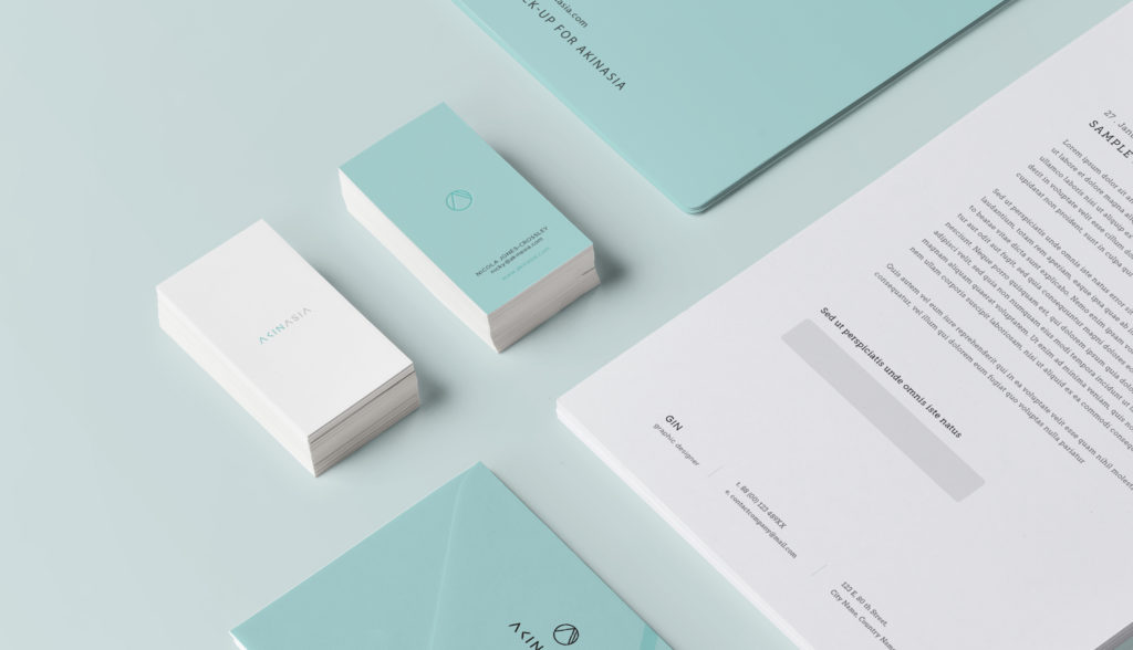 Business Cards Of AKINASIA By Suzaku Productions