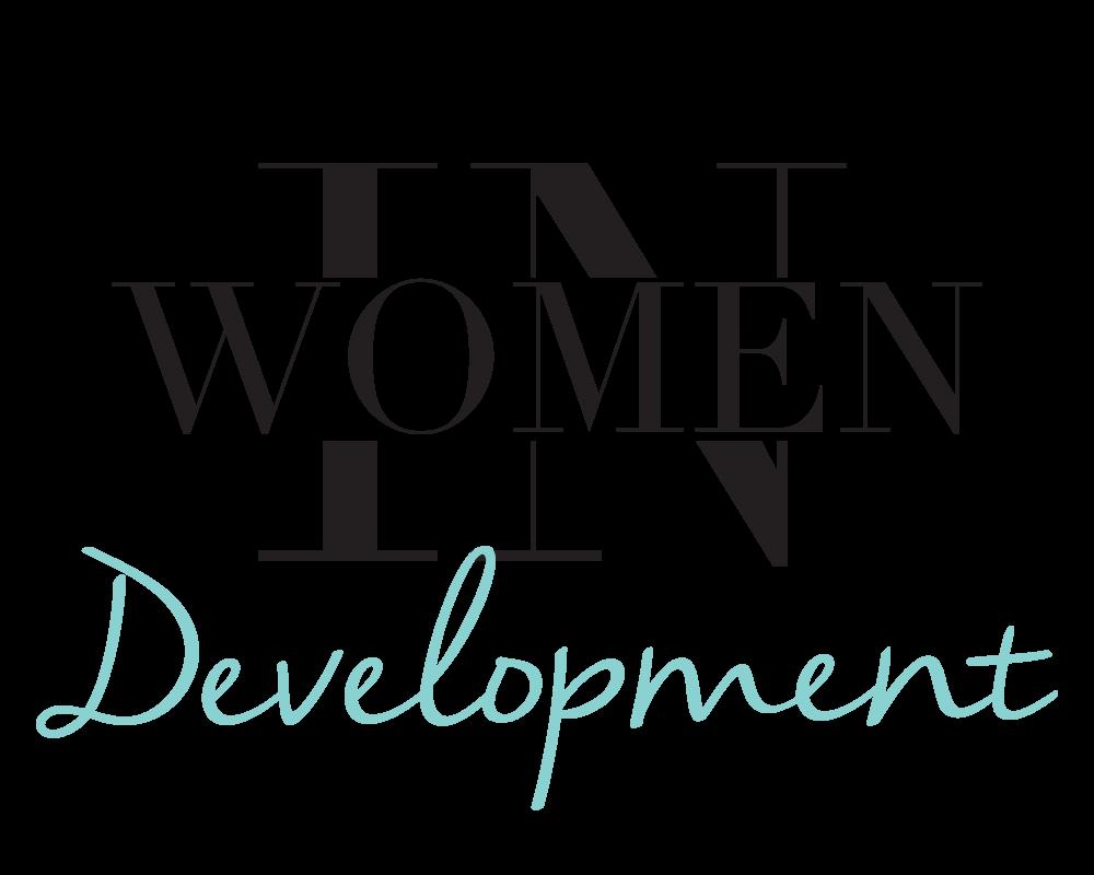 """Women In Development"" logo for AKINASIA by Suzaku Productions"