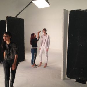 Backstage of photo shooting for Accevene Plus 3