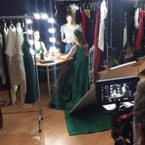 Backstage photo shooting with Lydia Sarunrat for Maprao by Suzaku Productions