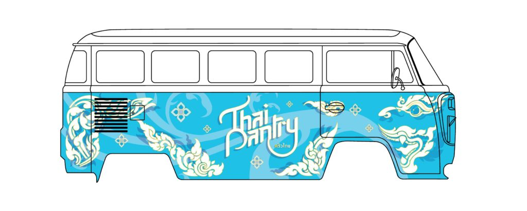Graphic design for a Playgrounds foodtruck by Suzaku Productions