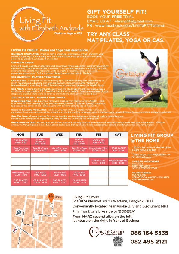 Flyer for LIVING FIT GROUP by Suzaku Productions