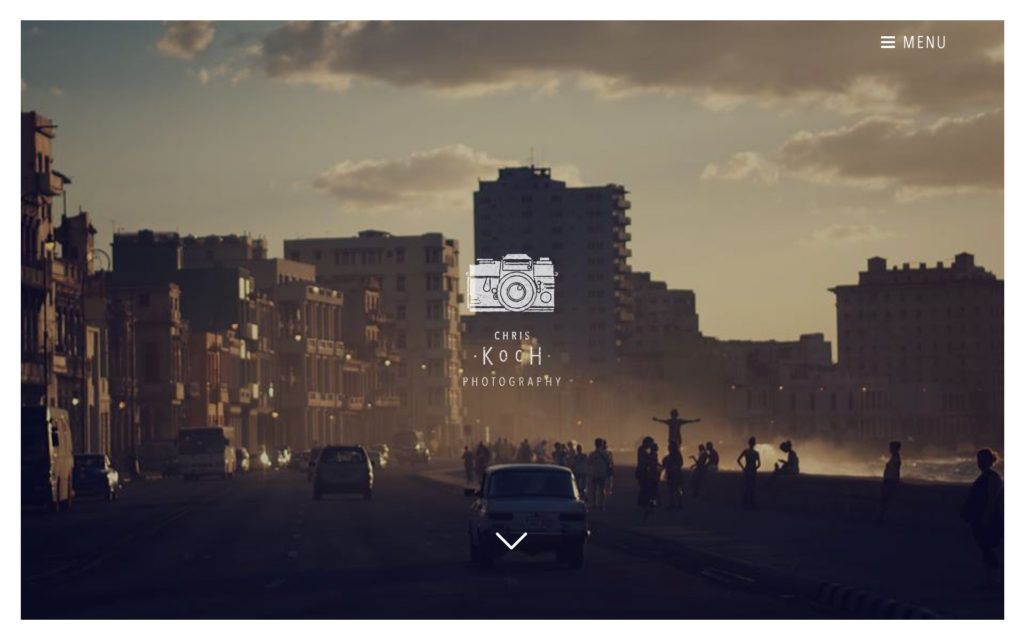 CHRIS KOCH website by Suzaku Productions